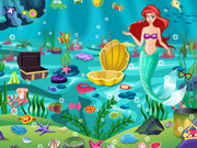 Princess Ariel Underwater Cleaning