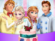 Frozen Family Cooking Wedding Cake