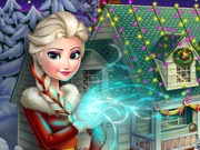 Click to Play Frozen X-mas House Makeover