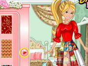 Click to Play Barbie's Patchwork Peasant Dress