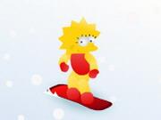 Lisa On Snowboard