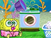 Baby SpongeBob Washing Clothes