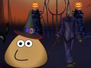 Pou Halloween House