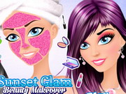 Click to Play Sunset Glam Beauty Makeover