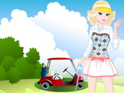 Barbie Goes at Golf