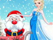 Click to Play Elsa Helps Santa